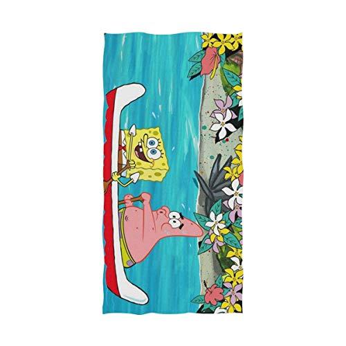 Jesse Tobias Toalla de baño Bob Esponja de Dibujos Animados Toalla de Playa de Gran tamaño Uso como Yoga Viaje Camping Gimnasio Toallas de Piscina en Carro de Playa Sillas de Playa TWL-1883