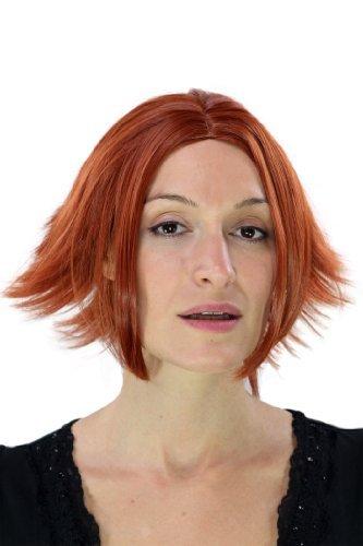Cosplay, perruque gothique She-Devil, coupe extravagante, avec raie au milieu, rouge YZF-7049-350