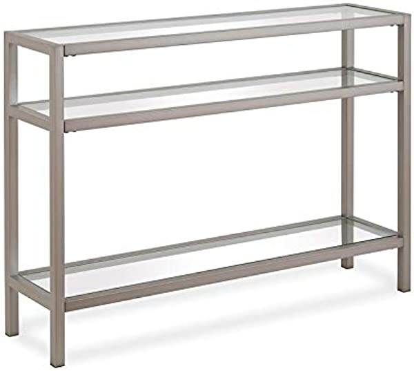 Henn Amp Hart Three Tier Console Table In Silver