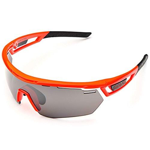 Briko Herren CYCLOPE Brille, 919 Fluo orange-SM3, One Size