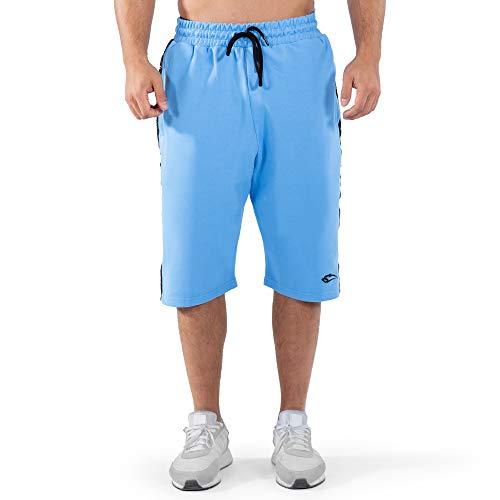 SMILODOX Hombres Pantalones Cortos Bandit | Pantalones para el Ejercicio de Deporte y Ocio | Pantalones de chándal - Pantalones - Pantalones de Deporte de Ocio, Size:M, Color:Azul