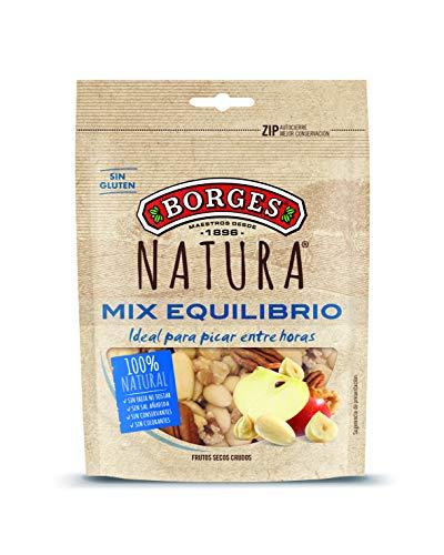 Borges Natura Cocktail Frutos Secos de Nueces de California, Almendras, Avellanas y Nueces Pecanas, 130g