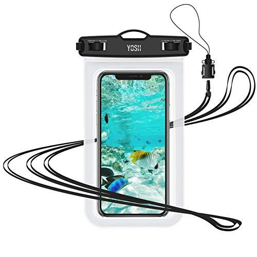 YOSH Funda Impermeable Móvil IPX8 Universal, Bolsa para Móvil Estanca a Prueba de Agua para iPhone 12 Pro MAX 11 XR X 8 7 Galaxy Note 20 S21 Xiaomi Poco X3 RedMi Note 9 Huawei Mate40 Pro hasta 7