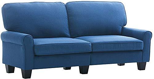 Wohnzimmer-Möbel kompaktes 2-Personen Schlafsofa Leinen,Blue-Loveseat