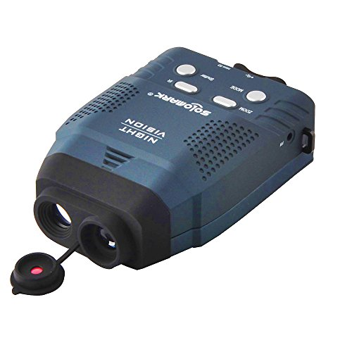 Solomark Night Vision Monocular, Blue-Infrared Illuminator Allows Viewing in The Dark - Records...