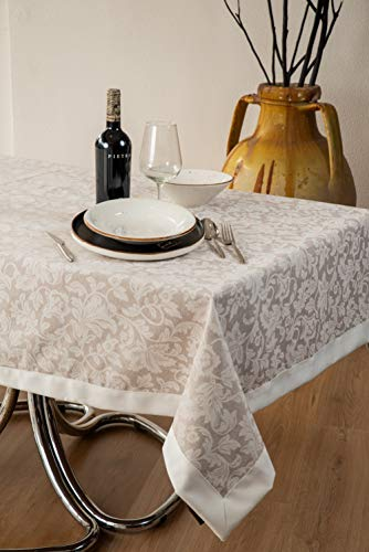 ESSE HOME - Mantel antimanchas – Rectangular, cuadrado, redondo, ovalado – Cinzia 133 (ovalado 140 x 220, 17 – 2).