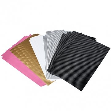 Cover Case de la peau de haute qualité de couleur multi fibre de carbone sticker Pour PS4 - Black