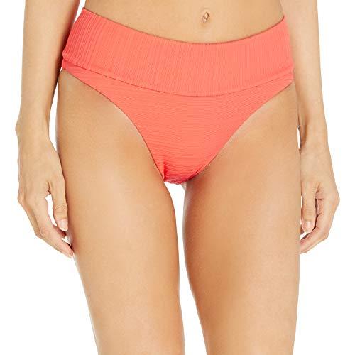 Rip Curl Damen Premium SURF HI Waist Cheeky Coverage Bikini Bottom Bikinihose, Hot Coral (rot), Small