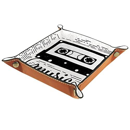 Papelería de escritorio musical para carteras, relojes, llaves, monedas, teléfonos celulares y equipos de oficina