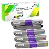 4 Colori Cartucce di Toner Compatibile OKI C332 MC363 C332dn MC363dn C332dnw MC363dnw GREENPRINT...