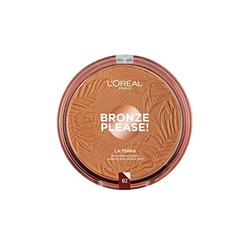 L'Oréal Paris Joli Bronze Please! Terra Compatta Abbronzante per Viso e Corpo, Maxi Formato, 02 Capri