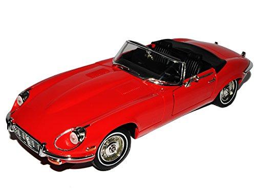 Jaguar E-Type Roadster Cabrio Rot 1961-1974 1/18 Yatming Modell Auto mit individiuellem Wunschkennzeichen