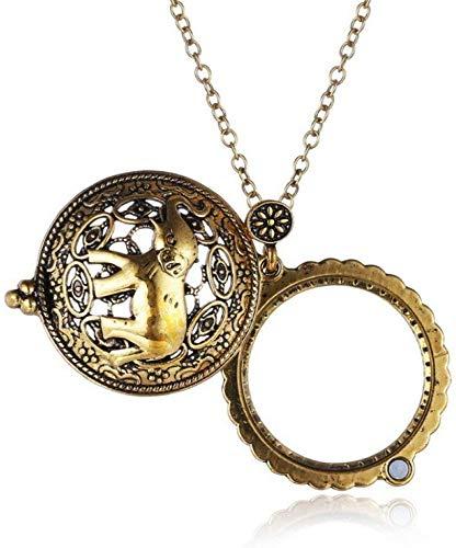 Cadena Collar portátil lupa de Alta Definición 5x retro del suéter del collar de la joyería viejos relojes de lectura de identificación de bricolaje Artesanía Talla portátil Magnifing de cristal Zixin