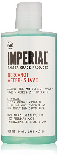 Imperial Barber Grade Products Bergamot After-Shave Alcohol Free, 9 oz