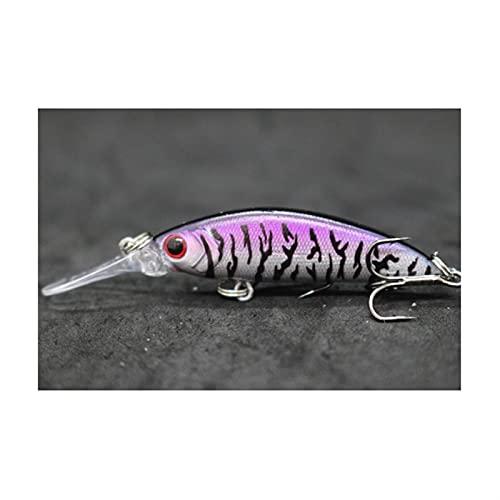 XDQ 2 0PCS Los cebos de señuelo Falsos en Forma de pez Duro con 8# Ganchos, la Pesca Falsa de la Pesca Falsa, el Cebo Falso Artificial para el Agua Salada de Agua Dulce para el bajo