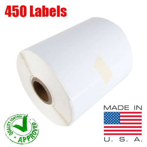 1 Roll of 450 (USA MADE) 4x6 Direct Thermal for Zebra 2844 ZP-450 ZP-500 ZP-505 Shipping Labels Perfect Roll for 1 INCH CORE THERMAL LASER PRINTERS