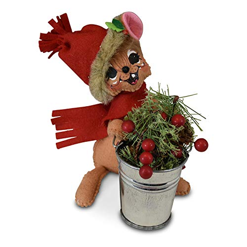 Annalee 6in Rustic Pine Bucket Mouse