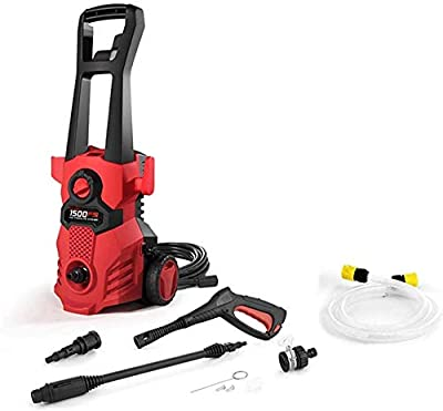 Electric Pressure Washer - 1500PSI 14 5 amp High Pressure Washer with Adjustable Nozzle 19 7ft Long Hose and Spray Gun Power for Pressure Car Washer Uptodate from JWCN