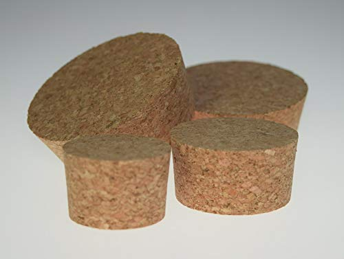 Labicat Korkstopfen, Fasskorken, Flaschenkorken, konische Form, lebensmitteltauglich, Nicht toxisch, 100% Naturkork gepresst (25 x Ø 65-57 mm (5 St.))