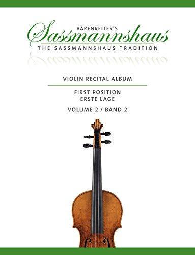 Violin Recital Album, Band 2: 13 Vortragsstücke in der ersten Lage für Geige und Klavier oder für zwei Geigen. Partitur