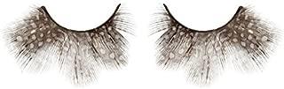 Zinkcolor Brown W/ White Polka Dot Feather False Eyelashes F039 Costume Dance