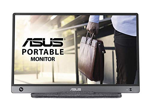 """Asus MB16AH - Monitor portátil de 15.6"""" FullHD (1920x1080, USB-C, Micro-HDMI, Antiparpadeo, Luz azul de baja intensidad, funda plegable) Gris"""