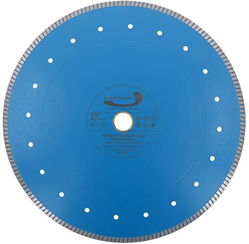 PRODIAMANT Profi Diamant-Trennscheibe Fliese Feinsteinzeug extra dünn 350 mm x 30 mit Ring 25,4 mm Diamanttrennscheibe PDX83.975