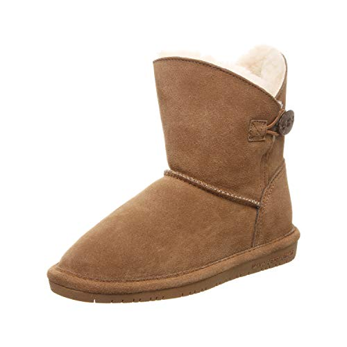 BEARPAW Girls' Rosie Fashion Boot, Hickory ii, 1 M US Big Kid