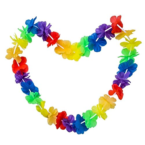 Yililay Garland, Garland Party Rainbow Colour Hawaiian Tropical For Beach Fancy Dress Up Costumes Outfits Accessory Rainbow Color