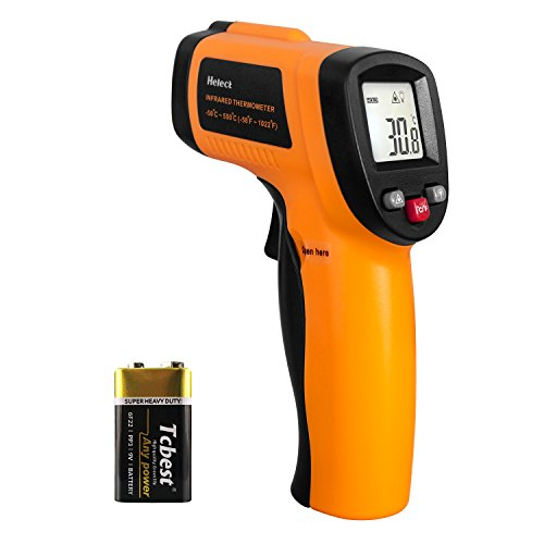Helect Infrared Thermometer, Non-Contact Digital Laser Temperature Gun -58°F to 1022°F (-50°C to 550°C) with LCD Display (NOT for Human)