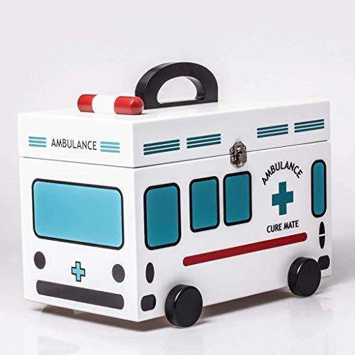 BINGFANG-W Primeros Auxilios Caja de Almacenamiento de la Medicina 32x18x16cm Caja médica Medicina hogar Caja de la Medicina del niño del bebé Caja de Almacenamiento Caja de Primeros Auxilios Pequeña