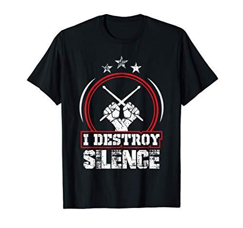 Idea De Regalo Para Bateristas Percusión Tambores Batería Camiseta