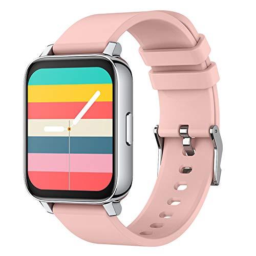 LK-HOME Smartwatch, 1,69-Zoll-Touchscreen-Uhr, 24-Stunden-herzfrequenz- Und Blutdruckmessgerät, Wasserdichter Ip68-fitness-tracker, Schrittzähler, Informations-Push-Funktion,Rosa