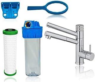 Kit de démarrage pour filtre à eau sous évier avec cartouche filtrante CARBONIT NFP Premium, support mural, kit de raccord...
