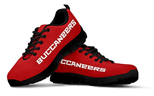 Tampa Bay Florida Themed Casual Athletic Running Shoe Mens Womens Sizes Football Apparel Gear and Gifts for Men Women Fan TB Bucs Merchandise