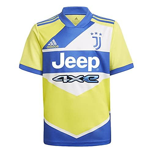 adidas Juve 3 JSY Y Maglietta, Amasho/Azalre, 7 Años Bambino