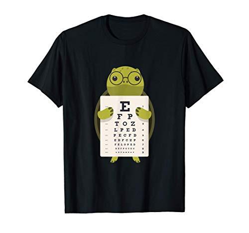 Tortuga Oftalmólogo Óptica Dibujos animados Niños Gafas Camiseta