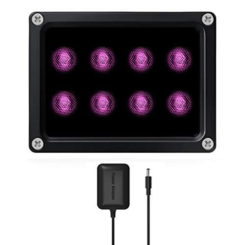 Tendelux 120ft IR Illuminator   BI8 Compact and Powerful 90° Infrared Light for CCTV Security Camera (w/Power Adapter)