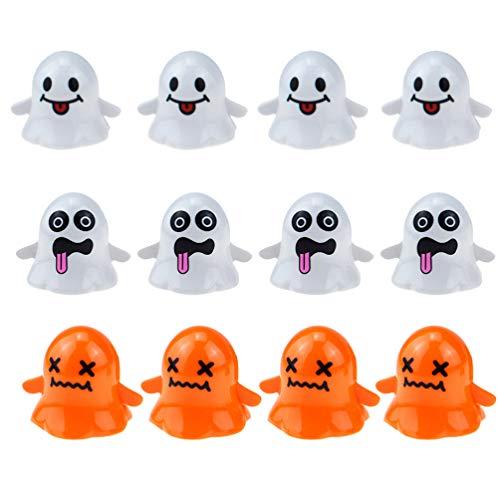 TOYANDONA Halloween Aufziehspielzeug Niedlichen Geist Uhrwerk Spielzeug Halloween Party Gefälligkeiten für Kinder Packung mit 12 Stück
