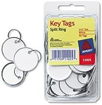 6 Pack Metal Rim Key Tags, Card Stock/Metal, 1 1/4