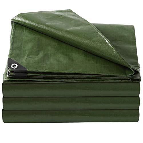 YCSD Sábana De Lona Verde Universal Resistente Al Agua De 160 G/M², Cubierta, Cubierta De Lona para Muebles, Sábana para Acampar(Size:6X12m)