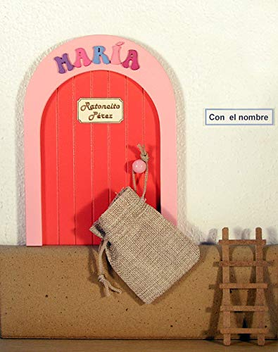 Puerta Casita del Ratoncito Pérez, Artesanía puerta en madera y personalizable