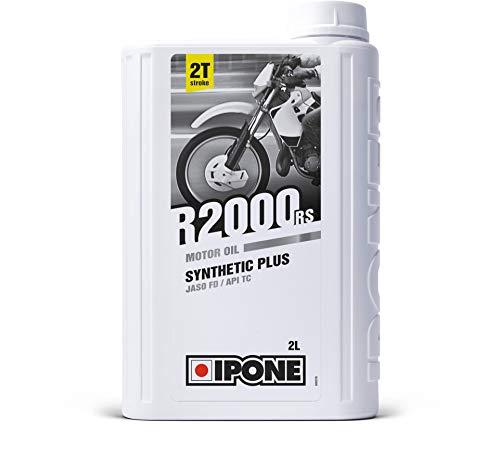 Ipone 800106 Huile Moteur Moto 2 Temps R2000RS – Semi-Synthétique avec Esters-Lubrifiant Haute Qualité-Bidon 2 litres