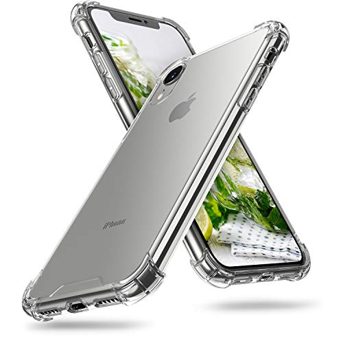 ORIbox iPhone XR Case Clear, with 4 Corners Shockproof Protection, Soft Scratch-Resistant TPU Cover Case for iPhone XR Case for Women & Men, Clear