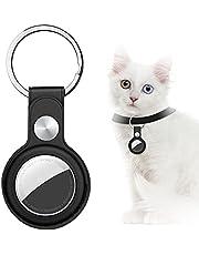 AICase Custodia per AirTag, Custodia protettiva in pelle per Tracker Holder compatibile con Apple New Air Tag 2021 per animali domestici, chiavi, bagagli, zaini