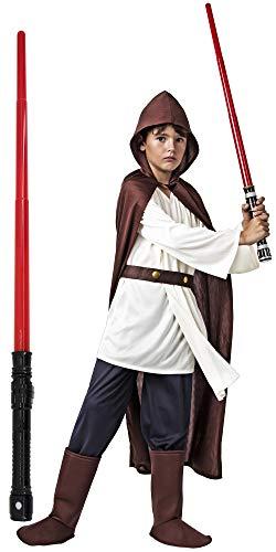 Gojoy shop- Disfraz de Luke Skywalker de Star Wars para Nio Carnaval (Contiene Tnica, Camiseta, Cinturn y Botas, 4 Tallas Diferentes) (5-6 aos)