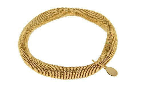 Kettenworld Bronze Armband aus Draht gelbvergoldet