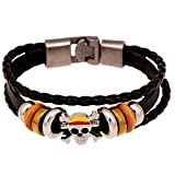 Bowinr One Piece Bracelet, Japanese Anime One Piece Monkey D. Luffy Pirate Wristband for Kids Teens Adults and Anime-Fans(Style 03)