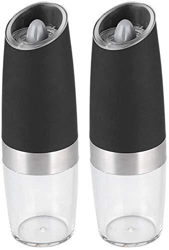 WQF Molinillo de Pimienta eléctrico, Molinillo de Especias Recargable con luz LED...