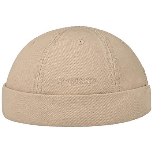 Stetson Ocala Baumwoll Dockercap Herren - Dockermütze aus 100% Baumwolle - Mütze in L (58-59 cm) - Cap in Beige - Docker mit UV-Schutz 40